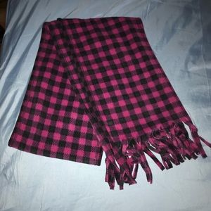 Accessories - Gingham Patter Pink and Black Scarf